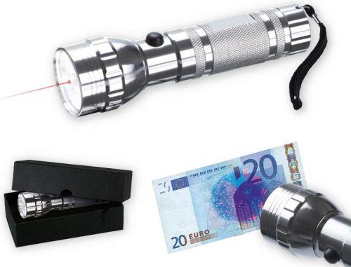 LED-Leuchte mit UV-Licht und Laser als Werbeartikel