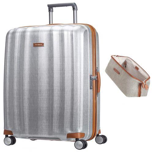 Hartschalenkoffer Samsonite Lite-Cube DLX Spinner 76 und Kulturtasche Lite DLX als Werbeartikel