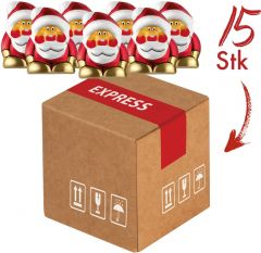 Präsentset Mini-Cargo Santas als Werbeartikel