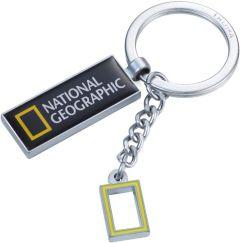 Schlüsselanhänger Nat Geo Logo Keyring als Werbeartikel