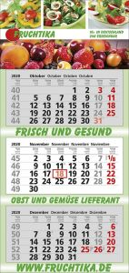 3 Monats-Kalender Trend 3, 4-sprachig als Werbeartikel