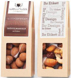 Premium Snacks Faltschachtel als Werbeartikel