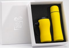 Sonderaktion Thermobecher und Thermoflasche Colorissimo als Werbeartikel