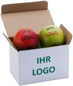 Twinbox für zwei Äpfel als Werbeartikel
