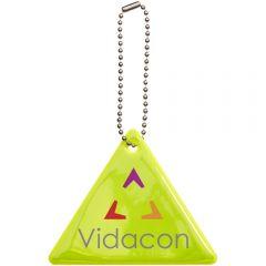 Reflektierender Dreiecksanhänger als Werbeartikel
