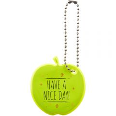 Reflektierender Anhänger in Apfelform als Werbeartikel