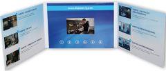 """Klappkarte mit integriertem HD- und IPS Farbmonitor """"VIDEOcard mit 4,5 Zoll HD- und IPS Display"""" als Werbeartikel"""
