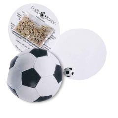 Klappkärtchen Fußball als Werbeartikel