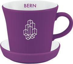 Kaffeetasse Bern mit Untertasse als Werbeartikel