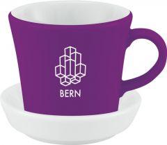 Espressotasse Bern mit Untertasse als Werbeartikel