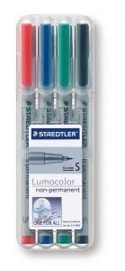 STAEDTLER Lumocolor non-permanent S, Box mit 4 Stiften