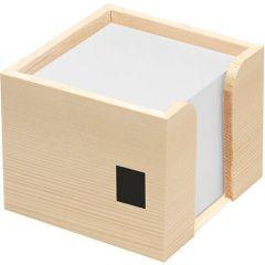 Holz-Zettelbox als Werbeartikel