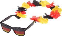 Spaßbrille Germany mit Blumenkette als Werbeartikel