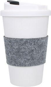 Kaffeebecher PremiumPlus mit Manschette als Werbeartikel