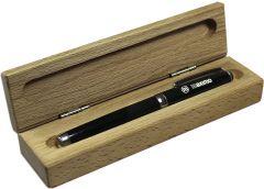 Holzbox für Schreibgeräte als Werbeartikel