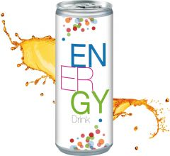 Energy Drink in der Dose, Smart Label als Werbeartikel