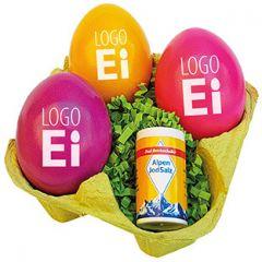 LogoEi 3er und Salz als Werbeartikel