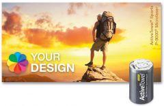 ActiveTowel® Sports Microfaser-Sporthandtuch 80 x 40 cm in der Dose Standard als Werbeartikel