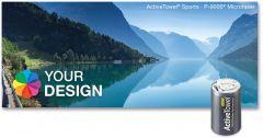 ActiveTowel® Sports Microfaser-Sporthandtuch 100 x 40 cm in der Dose Standard als Werbeartikel