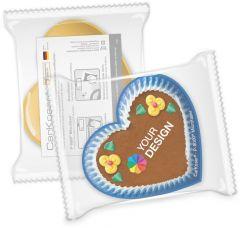 CarKoser® HD 2in1 Scheibenschwamm Herzform, glatt, in der Folie als Werbeartikel