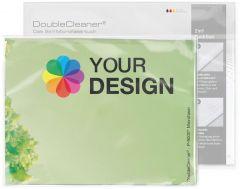 DoubleCleaner® Microfasertuch 40 x 30 cm im Polybeutel mit Standardkarte als Werbeartikel