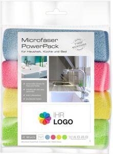 Microfaser PowerPack mit Werbe-Etikett Haushalt als Werbeartikel