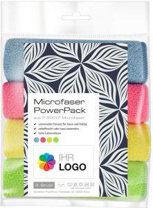 Microfaser PowerPack mit Werbe-Etikett Neutral als Werbeartikel