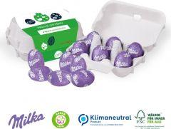 Schoko-Eier 6er-Set von Milka als Werbeartikel