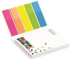 Haftnotizen Kombi-Set im Kartonumschlag auch mit Werbedruck als Werbeartikel