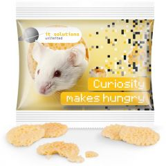 Käse Chips Miditüte als Werbeartikel