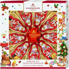 Marzipan Weihnachtssterne und Weihnachtsmann als Werbeartikel