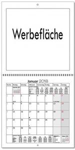 Broschürenkalender quadratisch 170g Wire als Werbeartikel