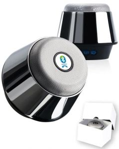 Chrome Bluetooth-Speaker als Werbeartikel