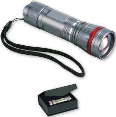 Cree LED Taschenleuchte mit Zoomfunktion als Werbeartikel