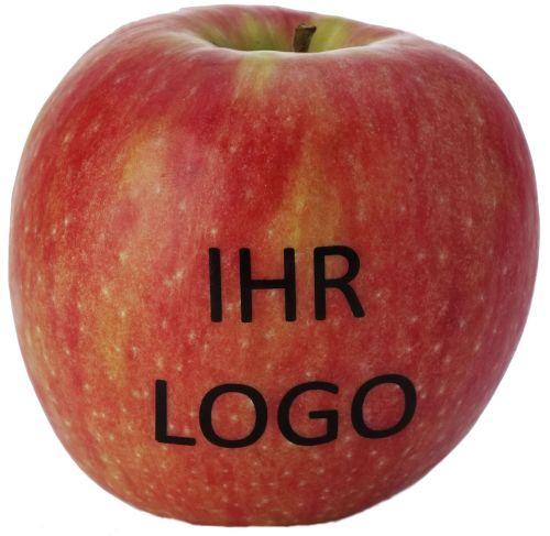 Apfel mit Logo als Werbeartikel