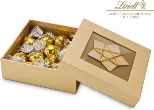 Präsentset Goldene Schachtel als Werbeartikel