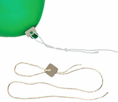 Öko-Pappverschluss mit Halteband als Werbeartikel