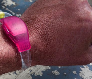 Discolicht Blink-Armband als Werbeartikel