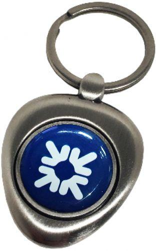 Schlüsselanhänger Snowdon mit Logo Doming als Werbeartikel