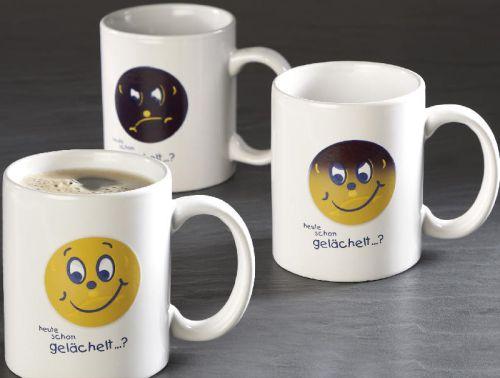 Magic Becher Smilie mit Ihrem Logo als Werbeartikel