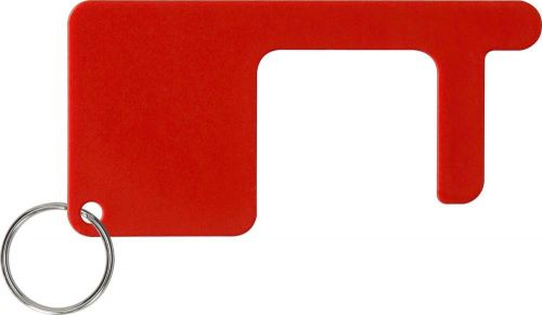 Schlüsselanhänger Safe contact mit Schlüsselring als Werbeartikel
