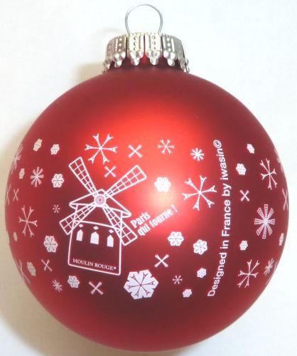 Glas-Weihnachtskugeln inkl. einfarbigem Werbedruck als Werbeartikel