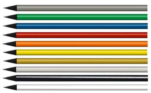 Bleistift schwarz durchgefärbt, lackiert als Werbeartikel