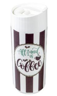 Bio Coffee to go Premium 425ml mit 4c In-Mould-Label als Werbeartikel