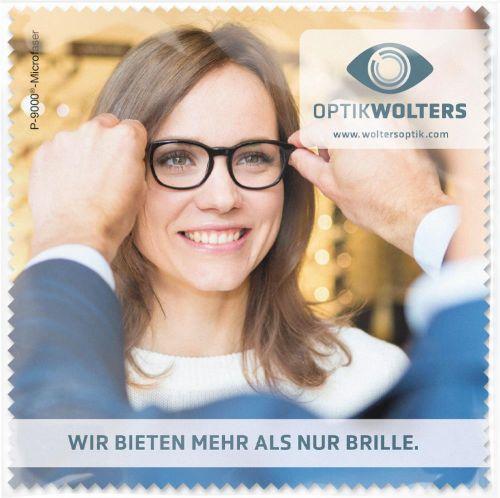 POLYCLEAN Brillenputztuch 15x15 cm im Polybeutel als Werbeartikel
