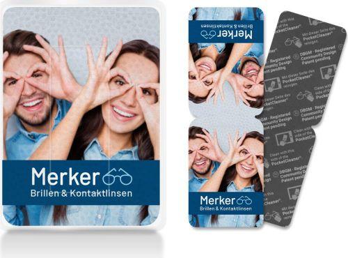 PocketCleaner® Brillen- und Displayreiniger als Werbeartikel