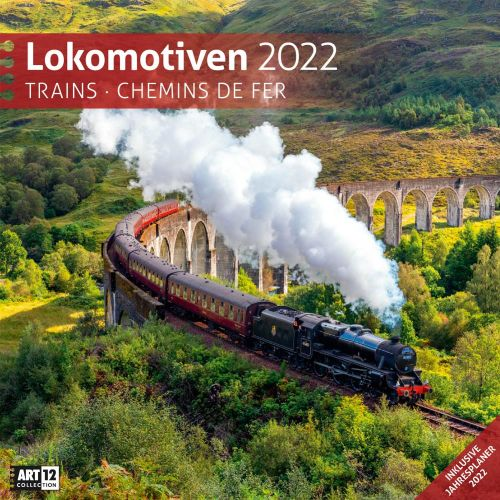 Kalender Lokomotiven 2022 als Werbeartikel