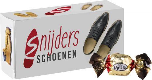 Box mit 4 Schokoladenpralinen als Werbeartikel