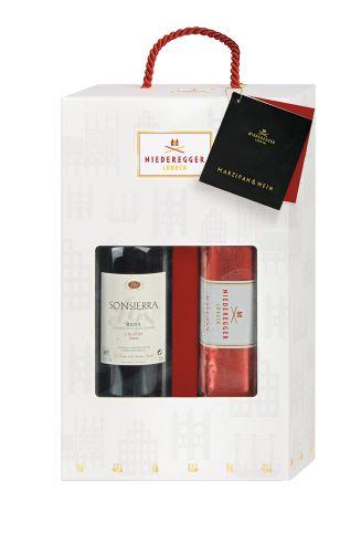 Niederegger Marzipan und Wein Set (Sonsierra) als Werbeartikel