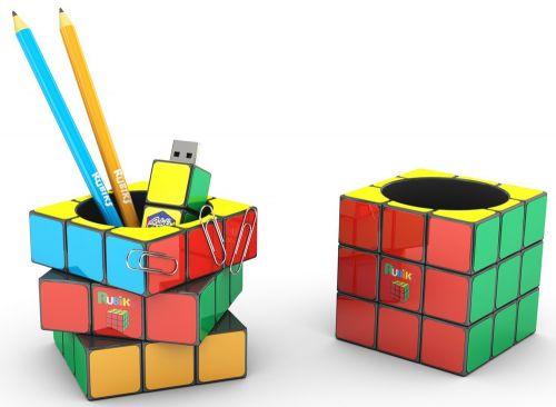 Original Rubiks Stifteköcher als Werbeartikel